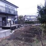 菜園スペースのある庭